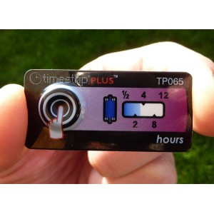 Timestrip irreversible Time/temperature indicator